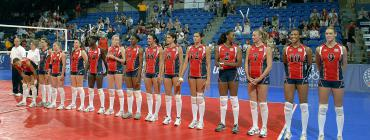 Mixed-race women's volleyball team