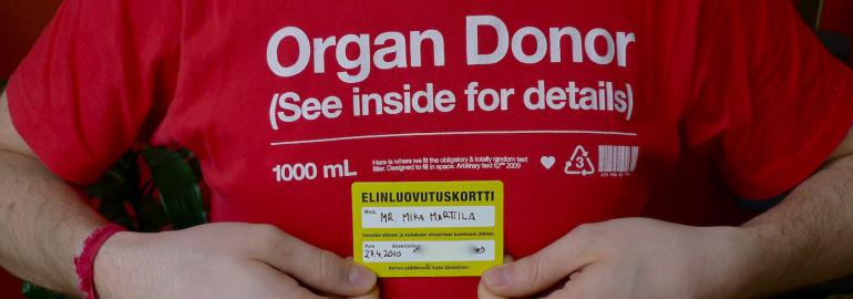 An organ donor
