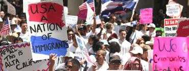 Immigrants protest and march