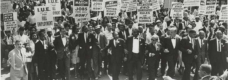 Group of civil rights protestors